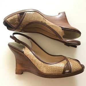 Cole Haan Shoes - Cole Haan Nike Air Snakeskin Sandals Brown Size 8B